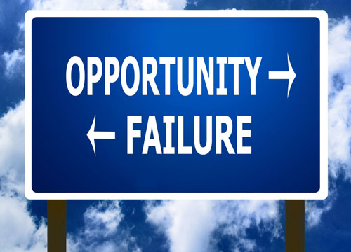 Failure is opportunity